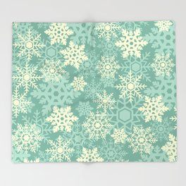 Snowflakes #1 Throw Blanket