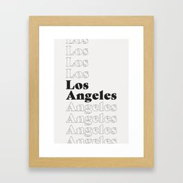 Los Angeles Type - Dark Framed Art Print