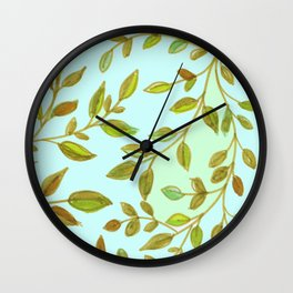 Leaves, 4 Wall Clock