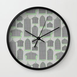 Birdcages (Gray) Wall Clock