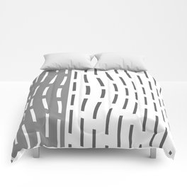 Pattern In Gray And Whte Comforters