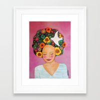 florence Framed Art Prints featuring florence by sylvie demers