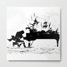 Pianist Passion Metal Print