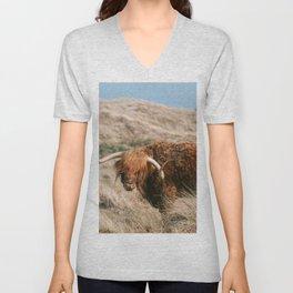 Cow I Buffalo I Brown Colors I Netherlands I Europe I Photography artprint I  Unisex V-Neck