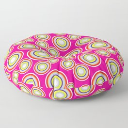 Circles on pink background Floor Pillow
