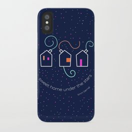 Sweet home under the stars iPhone Case