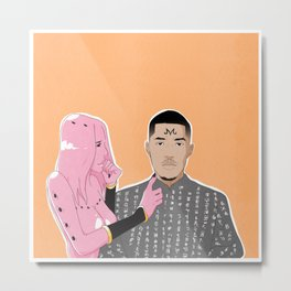 Cotton Candy, Majin Buu Metal Print