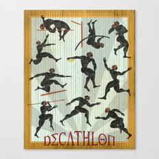 Decathlon Vertical Poster Canvas Print