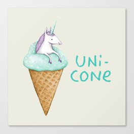Unicone Canvas Print