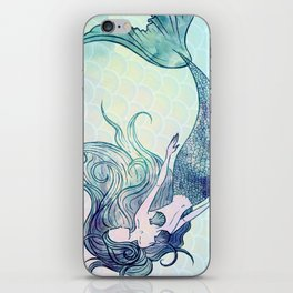 Watercolor Mermaid iPhone Skin
