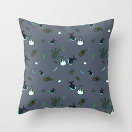 Dark Science Throw Pillow