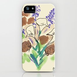 Bouquet of Calla Lillies by John E. iPhone Case