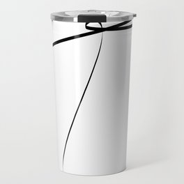 """ Singles Collection "" - One Line Minimal Letter T Print Travel Mug"