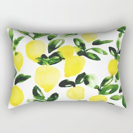Summer Lemons Rectangular Pillow