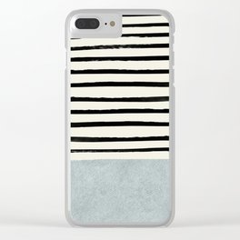 Silver x Stripes Clear iPhone Case