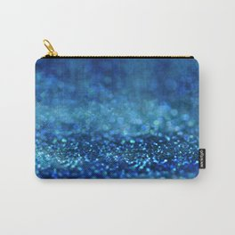 Aqua Glitter effect- Sparkling print in different blue Carry-All Pouch