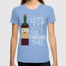 When You're Feeling Merlot X-LARGE Tri-Blue Womens Fitted Tee