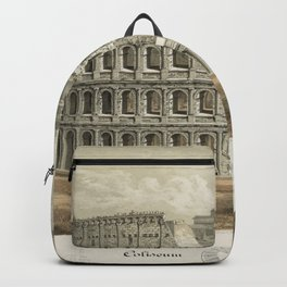 Vintage Illustration of The Roman Colosseum (1872) Backpack