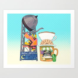 Coffee Stand - Mole Art Print