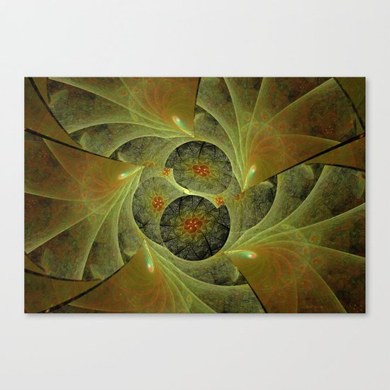 Beautimous With Green Canvas Print