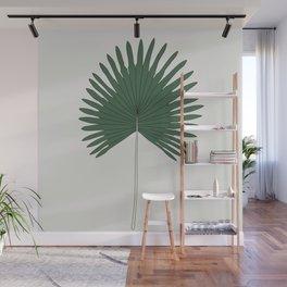 Fan Palm Leaf Illustration Wall Mural