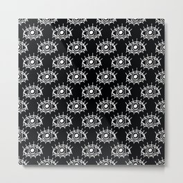 Eye of wisdom pattern-Black & White- Mix & Match with Simplicity of Life Metal Print