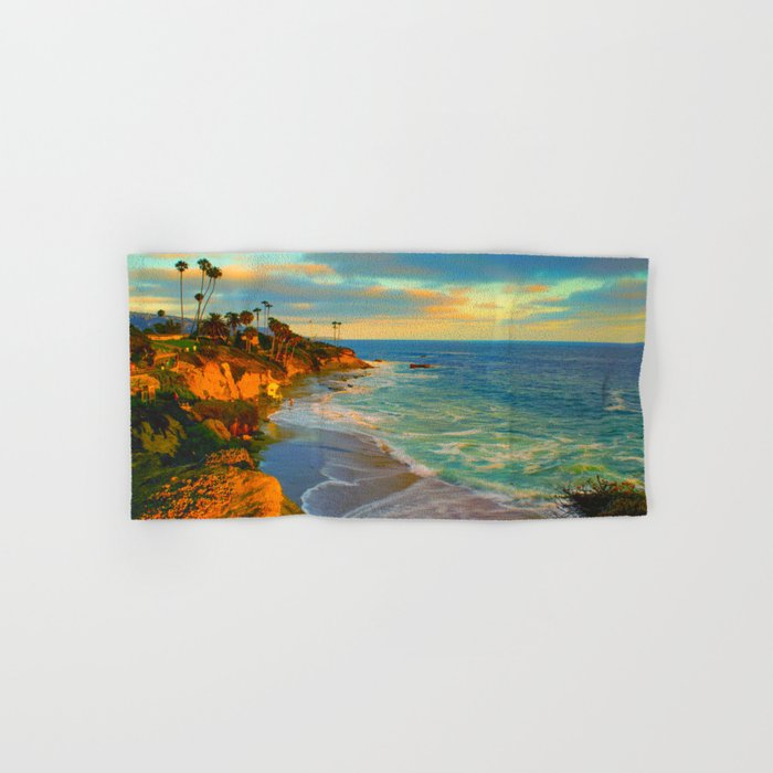 Laguna Beach California Hand & Bath Towel