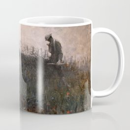 On the Wire War Landscape Painting by Harvey Thomas Dunn Coffee Mug