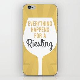 Wine Humor Riesling iPhone Skin