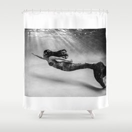 Mermaid Among Us (up) Shower Curtain