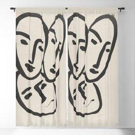 Apollinaire, Matisse, Rouveyre (Trois têtes. A l'amitié) Blackout Curtain