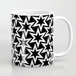 Black and white star pattern Coffee Mug