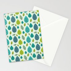 Trees pattern Stationery Cards