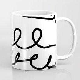 Crashing Waves - Black and White Coffee Mug