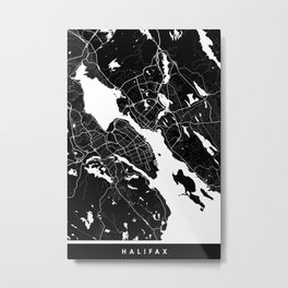 Halifax - Minimalist City Map Metal Print