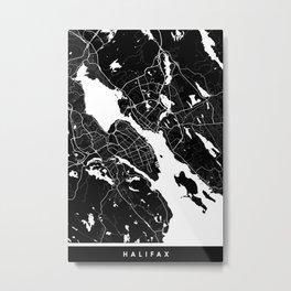Halifax - Minimalist City Map Metal Print