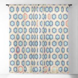 Digital Honeycomb Sheer Curtain