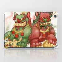 foo fighters iPad Cases featuring Happy Happy Foo Foo by JoJo Seames