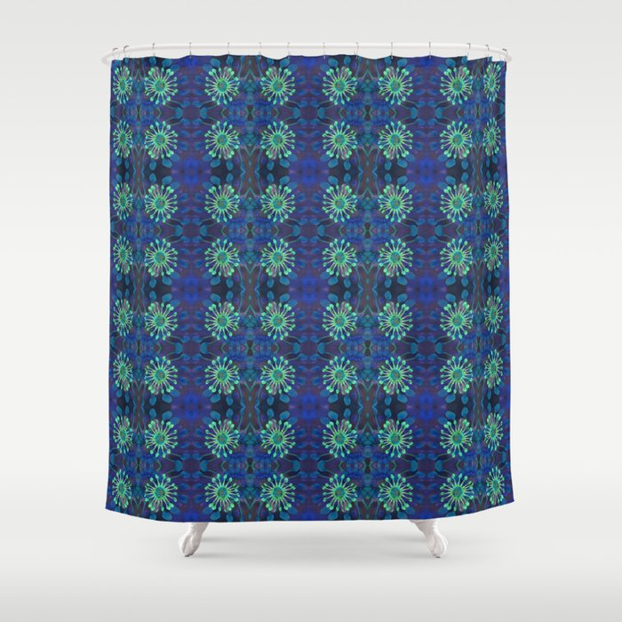 Neo Tribal Floral Print Shower Curtain By Carlieamberpartridge