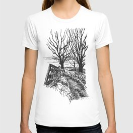 the road down from fairy hill T-shirt