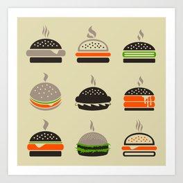 Hamburger2 Art Print