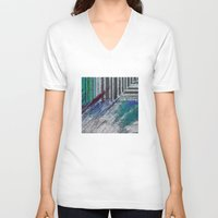 data V-neck T-shirts featuring Data by MonsterBrown