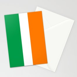 Irish national flag - Flag of the Republic of Ireland, (High Quality Authentic Version) Stationery Cards