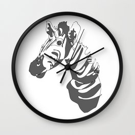 Zebra Blind Contour Wall Clock