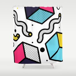 Memphis Pop-art Pattern II Shower Curtain
