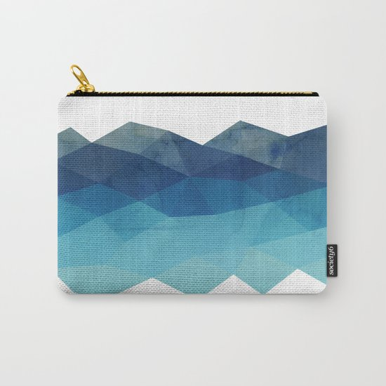 Fractal blue geometry Carry-All Pouch