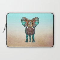 elephant Laptop Sleeves featuring ElePHANT by Monika Strigel