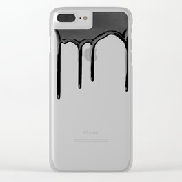 Black paint drip Clear iPhone Case