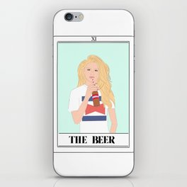 the beer tarot card iPhone Skin