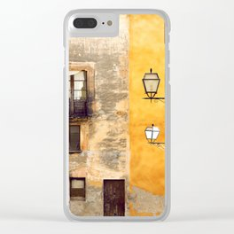 Yellow and Old Wall Clear iPhone Case